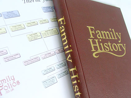 Family tree chart and binder